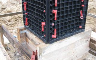 Пластиковая опалубка: для фундамента, стен, колонн