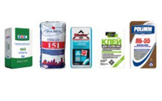 Клей для газосиликатных блоков: какой выбрать?