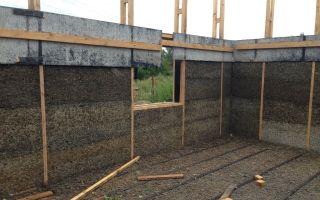 Монолитный арболит: строительство дома своими руками