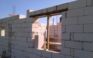 Перемычки для газобетонных блоков: оконные, дверные, в стенах
