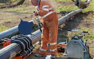 Сварка соединение швов трубопровода