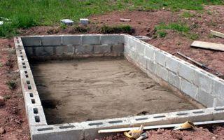 Фундамент из шлакоблока: для дома, теплицы, сарая, ограждений