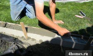 Бордюр бетонный: изготовление своими руками