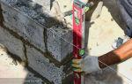 Кладка бетонных блоков: своими руками пошаговая инструкция