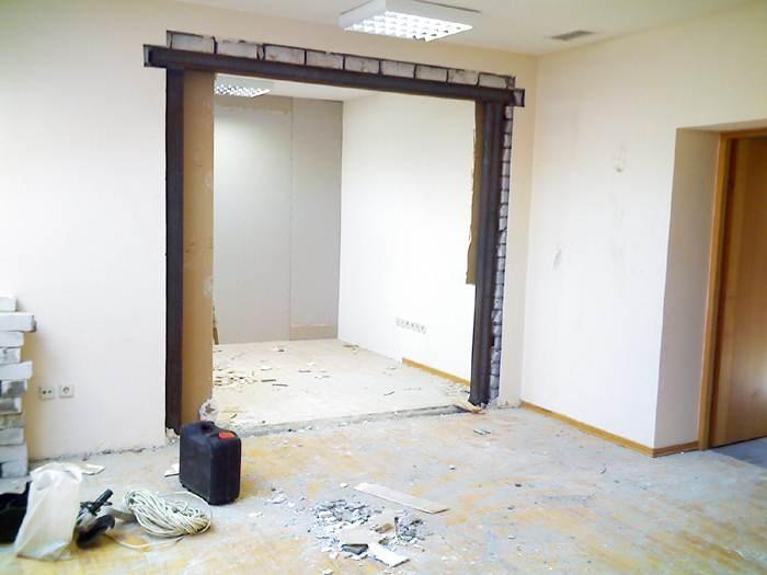 увеличить дверной проем в несущей стене