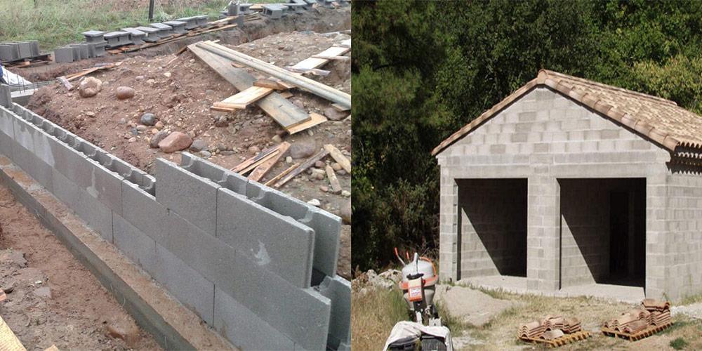 построить гараж из шлакоблока своими руками видео