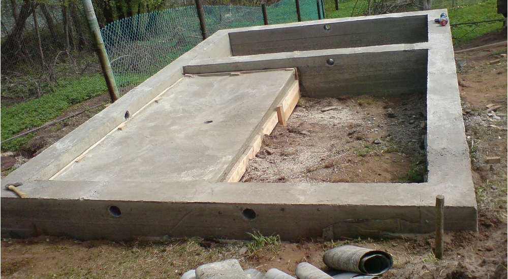 строительство фундамента под баню своими руками