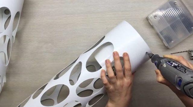 Светильники из сантехнических труб своими руками