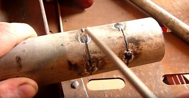 Сварка стыковых соединений из двух труб