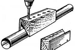 Сверло под отверстия для трубы