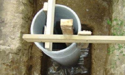 Фундамент под звеньями труб