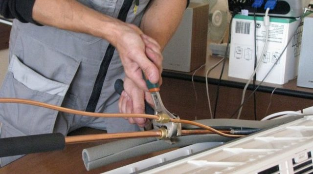 Диаметр труб хладагента жидкость