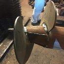 Свайный с ростверком из профилированной трубы 80х80 мм