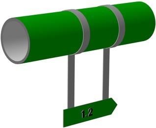 Как обозначается трубопровод пара