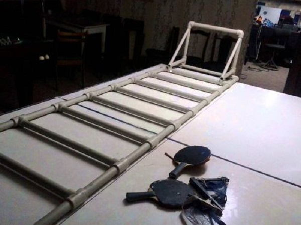 Самодельная лестница из пластиковых труб
