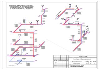 Аксонометрическая схема конструкции измерительного трубопровода