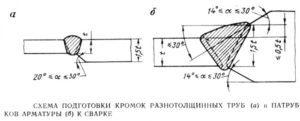 Сварка двух труб разных диаметров