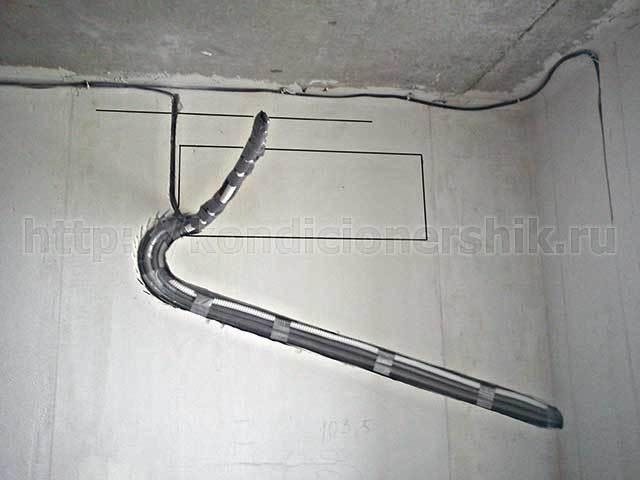 Трасса для кондиционера диаметр трубы