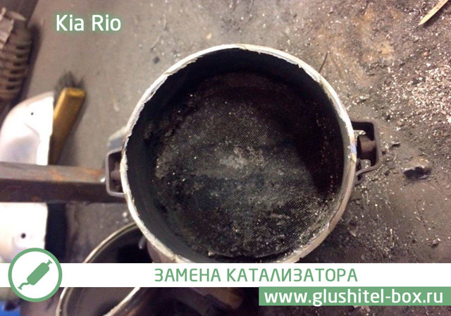 Диаметр выхлопной трубы kia rio