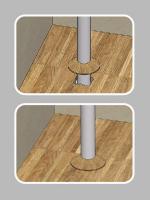 Декоративная заглушка для труб радиатора