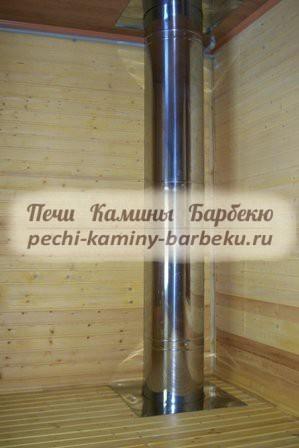 Какое расстояние от трубы до деревянной стены