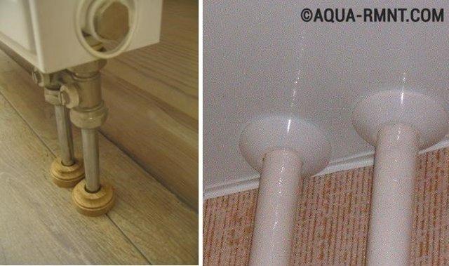 Как замаскировать трубы в гостиной