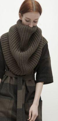 Как можно носить шарф трубу