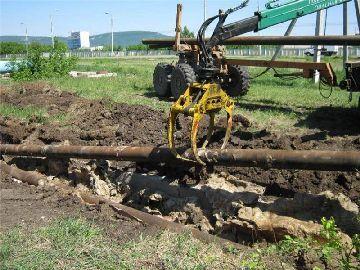 Демонтаж трубопроводов в траншее