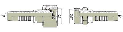 Фитинги обжимной высокого давления агропластком