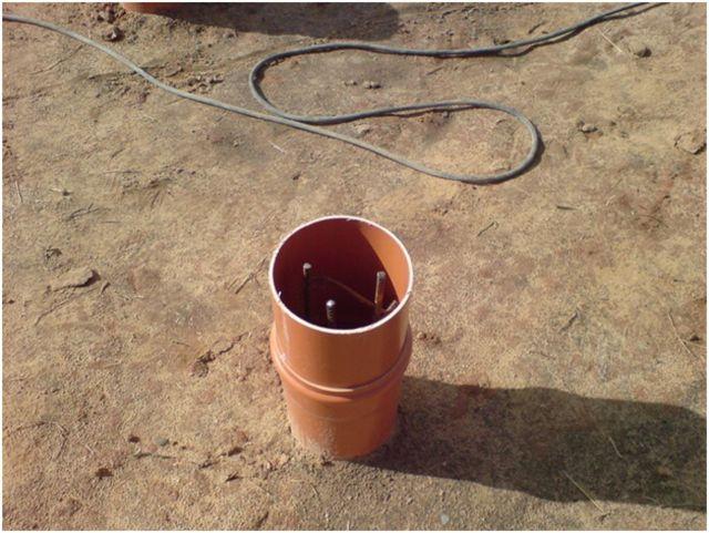 Сваи заливка в трубы