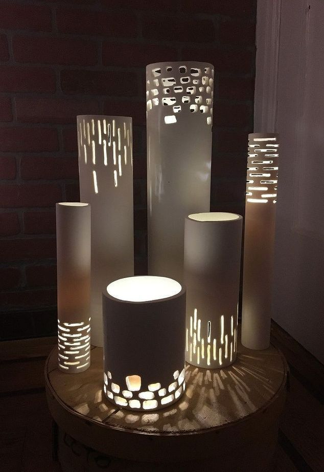 Светильник из пластиковых труб пвх