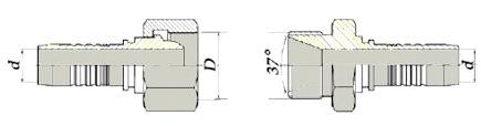 Фитинги для ремонта гидравлических шлангов