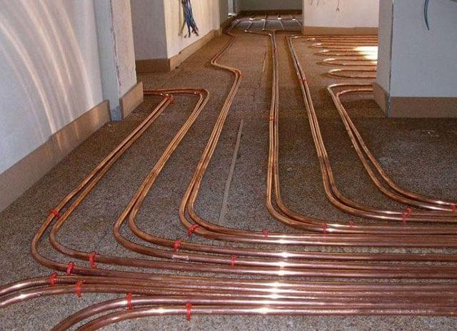Тип трубы для водяных теплых полов