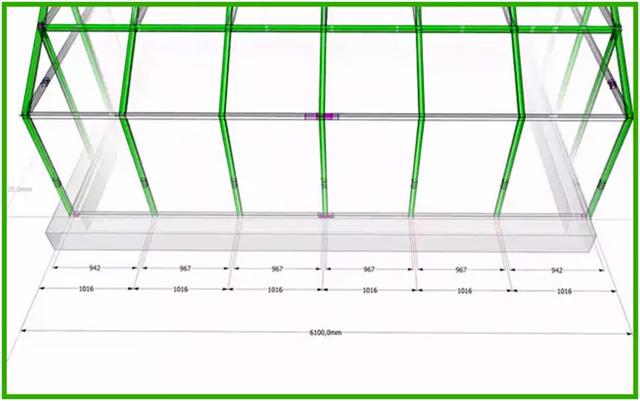 Система квадратных труб для каркаса