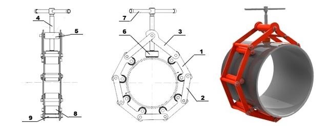 Центратор для труб большого диаметра своими руками