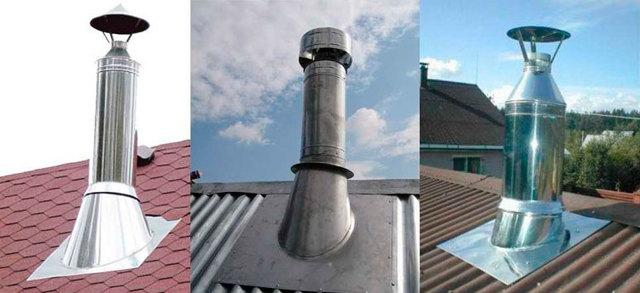 Как изолировать трубу дымохода в шифере