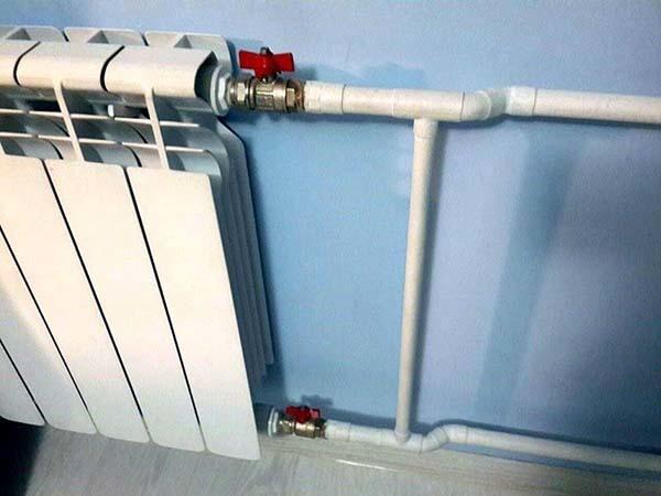 Диаметр труб при установке батареи