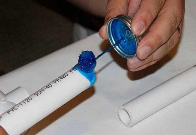 Самодельная ширма в комнату из пластиковых труб