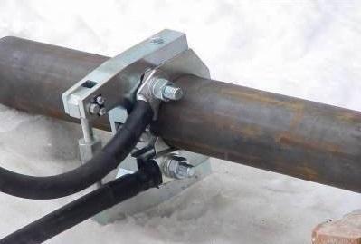 Как обогреть замершую трубу