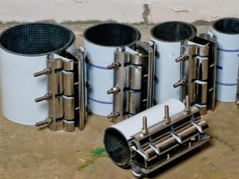 Хомуты ремонтные для пластиковых труб