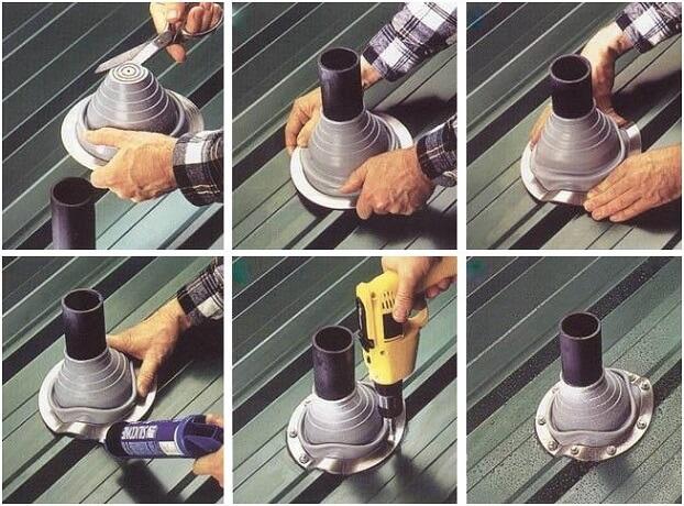 Как заделать трубу асбестом