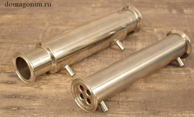 Дефлегматоров типа труба в трубе