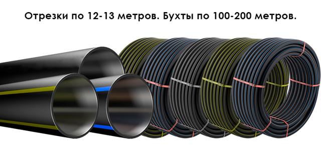 Диаметр бухты трубы пнд 110