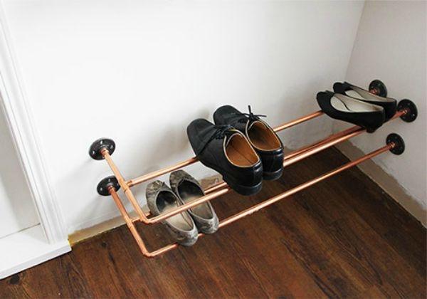 Сделать полку для обуви своими руками из труб пвх