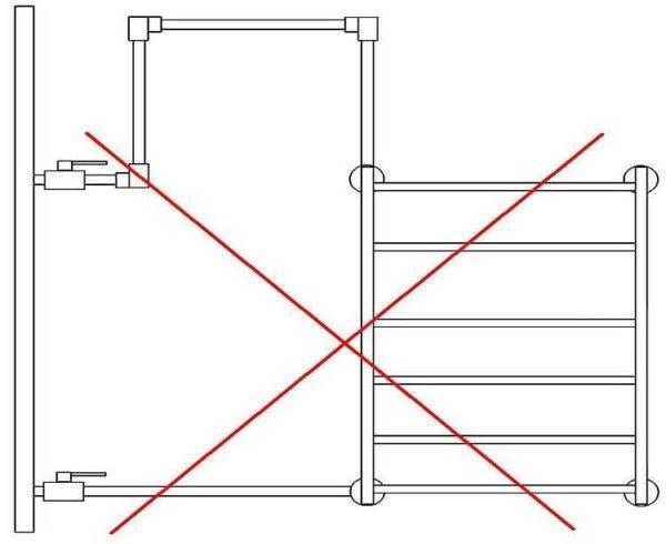Как нельзя делать трубы полотенцесушителя