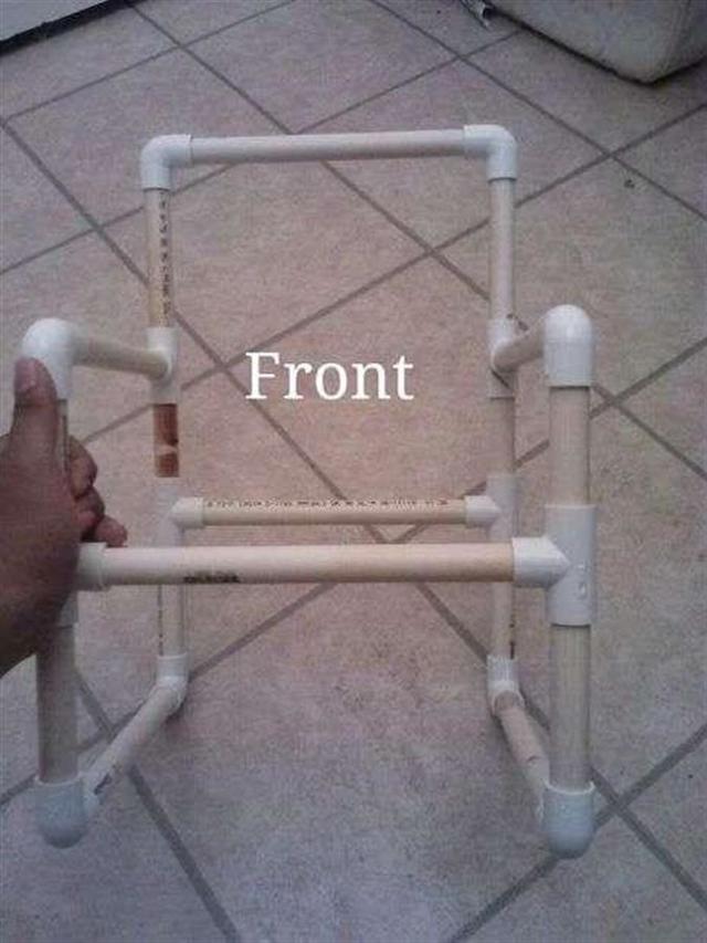 Рыбацкий стул из полипропиленовых труб своими руками
