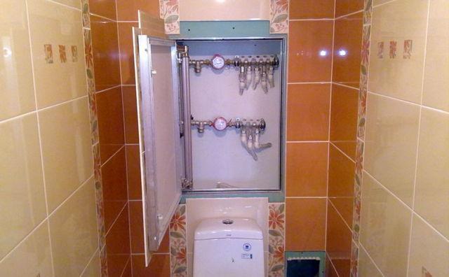 Как закрыть трубы в туалете шкафчиком