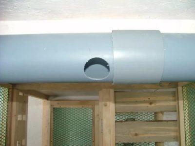 Диаметр трубы для вентиляция в курятнике