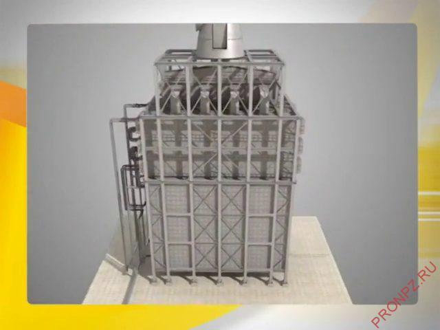 Двухскатная двухкамерная трубчатая печь поперечный разрез