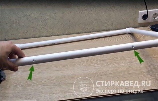 Как из пропиленовых труб сделать сушилки